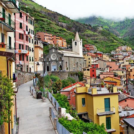 scenic Italy- Riomaggiore, Cinque terre Stock Photo - 17093171