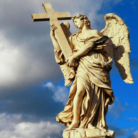 catholic: angels of Rome Stock Photo