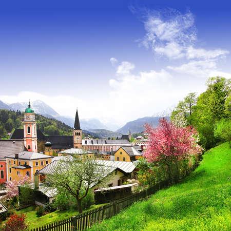 berchtesgaden: scenic Alps  Berchtesgaden, Bavaria Stock Photo