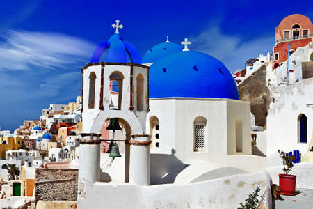cycladic: white blue Santorini, Oia village