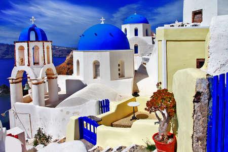 cycladic: colori di Santorini, villaggio di Oia