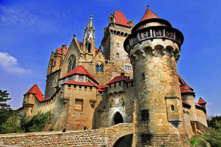 beautiful medieval castle Kreuzenstein, Austria photo