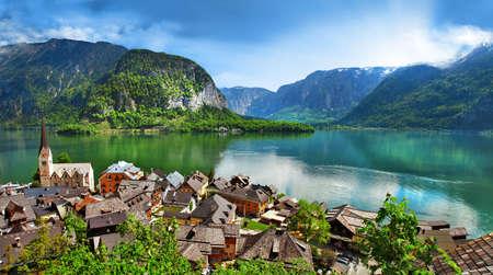 Superbes paysages de Alpen, Autriche Hallstatt Banque d'images - 20340370