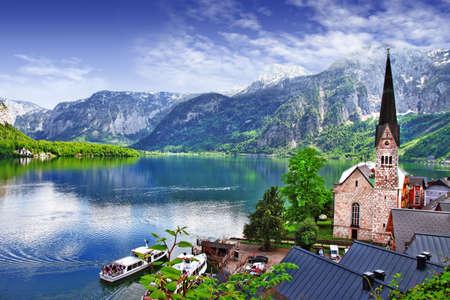 Superbes paysages de Alpen, Autriche Hallstatt Banque d'images - 20340356