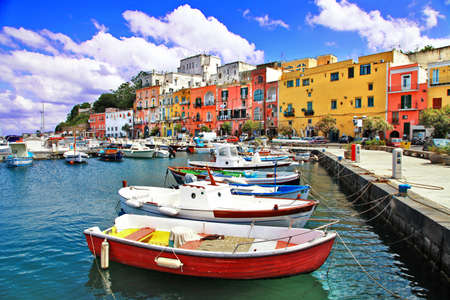 italie: Italie color� s�rie Procida Banque d'images