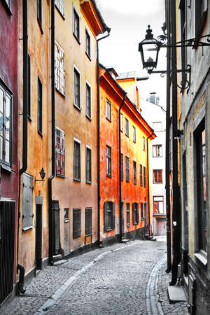 old building: streets of Stockholm, old town