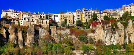 panorama of Cuenca town, Spain photo