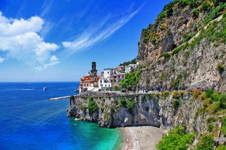 scenic Amalfi coast, Atrani village photo