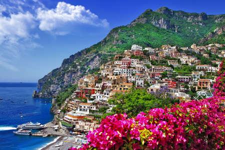 splendida Positano Italia Archivio Fotografico