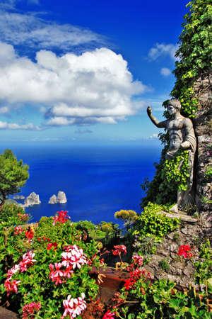 italy culture: scenic Capri island, Italy