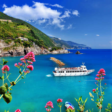 scenic Itlay, Ligurian coast Stock Photo