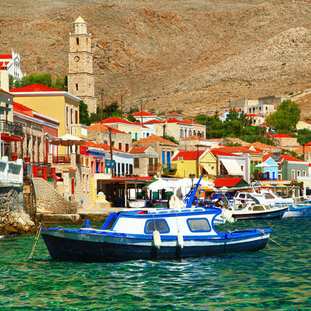 halki: colorful Greece series - Halki island