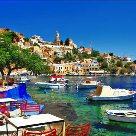 pictorial peaceful Greek islands - Symi Zdjęcie Seryjne - 21847640
