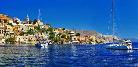 seafronts: sailing in Aegean  Symi island, Greece