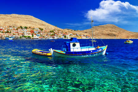 halki: crystal blue aegean sea