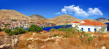 halki: Halki island panorama, Greece