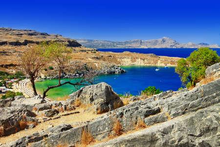 rhodes: Greek beaches - Rhodes island, Lindos bay