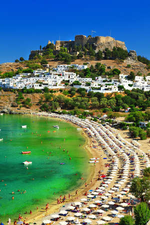 lindos: famous Greek beaches - Rhodes island, Lindos