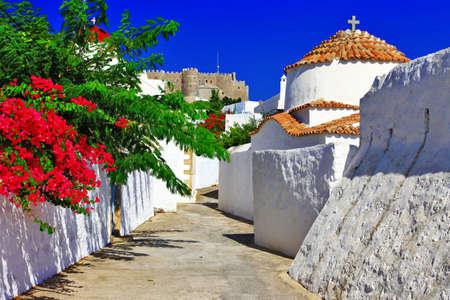 Monastères grecs et des églises, Patmos Banque d'images - 21934963