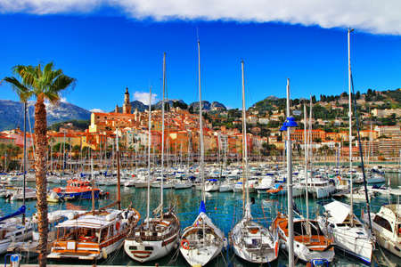 maritimes: Menton -beautiful town in south of France