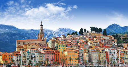 beutiful Menton, south of France photo