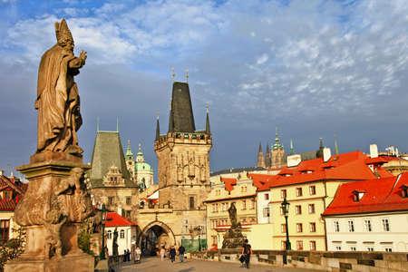 beautiful Prague, Charles bridge  photo