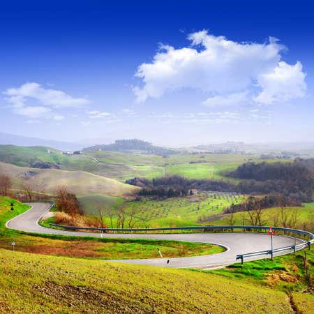 picturale landschappen van Toscane, Italië