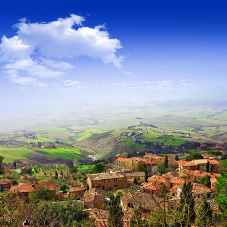 volterra: pictorial landscapes of Tuscany, Italy Stock Photo