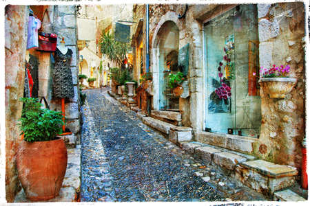 charming streets of french villages photo