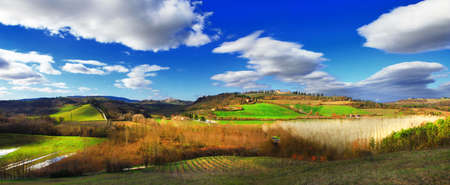 scenic landscapes of Tuscany, Itlay photo