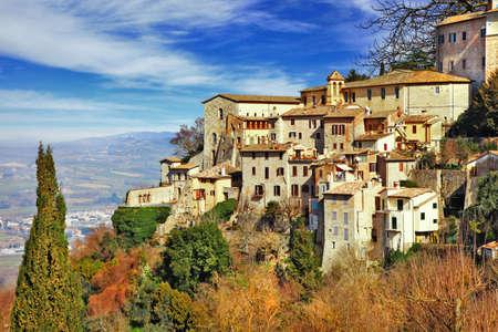 Todi - borgo medievale in Umbria, Italia Archivio Fotografico
