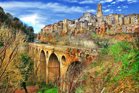 Pitigliano  - medieval town on rocks, Tuscany, Italy