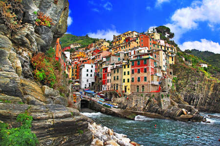 scenery of Italian coast - Riomaggiore, Cinque terre photo