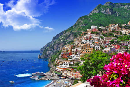 amalfi: beautiful Italian coast - Positano Stock Photo