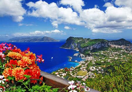 風光明媚なカプリ島、イタリア 写真素材
