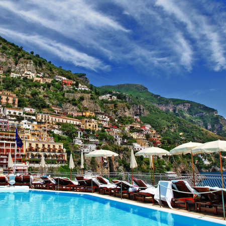 positano: Italian holidays - Positano,Amalfi coast Stock Photo