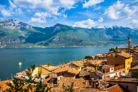 garda: scenery of Lago di Garda, Limone, north of Italy