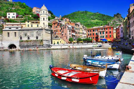 italian village: Vernazza - pictorial village in Cinque terre, Italy