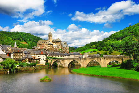 Estaing - one of the most beautiful villages in France Banco de Imagens