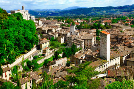 medieval town Gubbio, Umbria, Italy photo