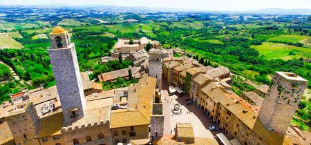 siena: medievl San gimignano, Tuscany, Italy
