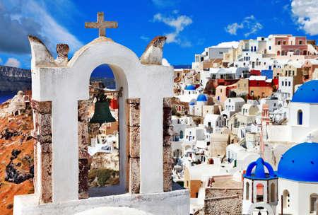 caldera: colors of Greece, white blue Santorini