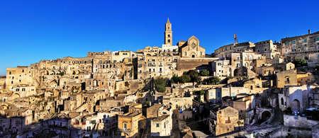 ravine: ancient cave town Matera, Basilicata, Italy