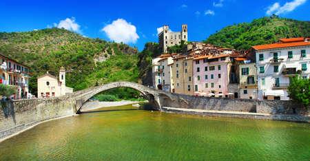 Dolceaqua - beutiful medievl village in Liguria, Italy Stock Photo