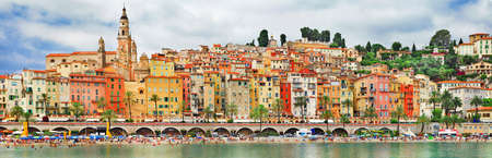 azur: Menton- colorful coastal town in south of France