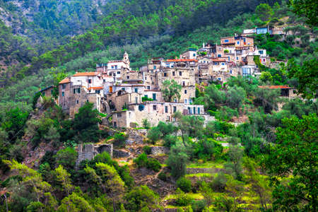 stoned: hill top villages of Italy Stock Photo