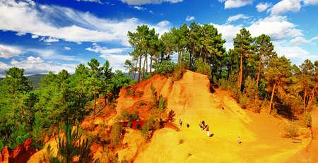unique Roussillion. natural ocher . Provence. france photo
