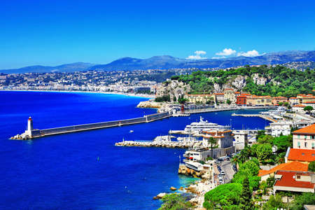 slunný Nice, na jih od Francie