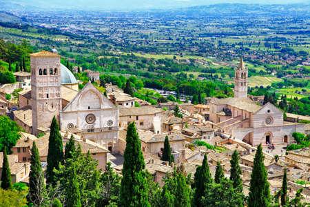 Assise médiévale, Ombrie Italie Banque d'images - 34296140