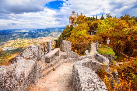 san marino: San Marino, view with castle. Italy